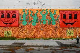 keith haring berlin wall mural widewalls street art legends street art legends