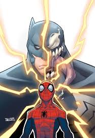 spiderman venom batman cover talez01 deviantart