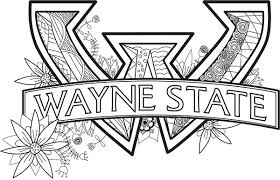 wsu coloring book pages wayne state university