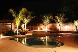 swimming pool backyard lighting ideas