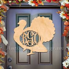thanksgiving custom custom three or single letter wooden thanksgiving turkey