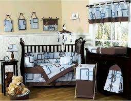 Baby Boy Nursery Bedding Set Blue Crib Bedding Sets And Brown Baby Boy Blankets Design Ideas