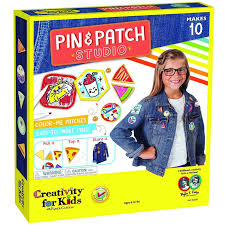 creativity for kids pin u0026 patch studio craft kits