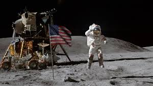 Picture Of Flag On Moon Cinematic Animation Of An Astronaut Planting A Us Flag On The Moon
