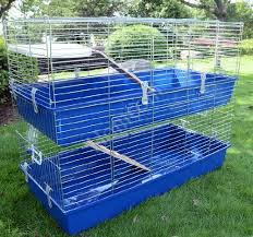 Rabbit Hutch Indoor Large Homcom Large Double Rabbit Cage Guinea Pig Chinchilla Rat Hutch