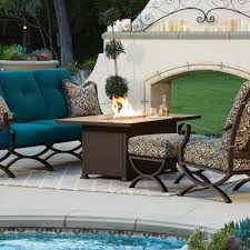 Ow Lee Fire Pit by Ow Lee Casual Fireside Santorini 30 X 50 Rectangle Occasional