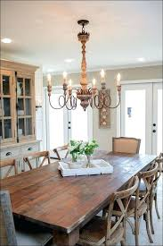 Size Of Chandelier For Dining Room Farmhouse Style Chandelier Rustic Mixed With Modern Dining Room