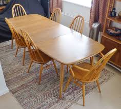 vintage ercol windsor grand extending large plank 10 person