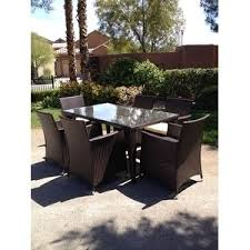 7pc Patio Dining Set 7pc Outdoor Brown Wicker Patio Dining Set Std Rectangle Free
