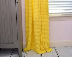 Yellow Curtain Window Curtains Etsy