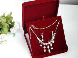 necklace set box images Buy high end red velvet jewelry set box necklace jpg