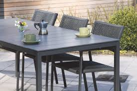 Aluminum Frame Wicker Patio Furniture - minimalistic design toscana table with exclusive high pressure