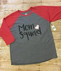 mom squad baseball raglan unisex tri blend raglan mom squad