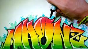 imagenes para dibujar letras graffitis graffiti en papel con colores difuminados youtube