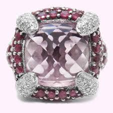large amethyst diamond white gold white gold ring with amethyst rubies u0026 diamonds