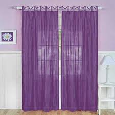 Pinch Pleated Sheer Draperies Purple Curtains U0026 Drapes Window Treatments The Home Depot