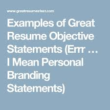 Example Of Great Resumes by Top 25 Best Examples Of Resume Objectives Ideas On Pinterest