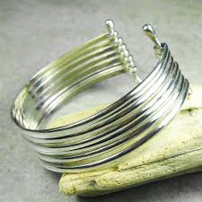 ring cuff bracelet images Vintage solid sterling silver 7 ring cuff bracelet 7 1 inch jpg