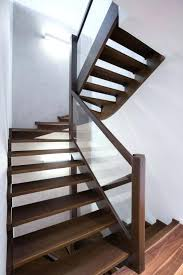 modern wooden stair railings surprising interior wrought iron