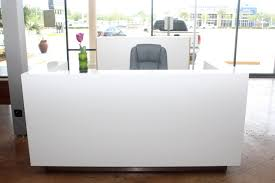 Ice Modern Reception Desk Orlando Office Furniture Curved Desks