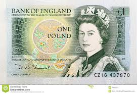 queen elizabeth ii portrait on 5 pound sterling banknote editorial
