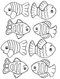fish pattern cut out kids coloring