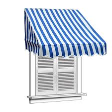 Awning Saver Window Awning Blue And White Striped Aleko