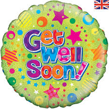 get well soon balloons buttercups and daisiesballoon get well soon buttercups and daisies