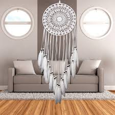 religious decorations for home dream catcher home decor white feather dreamcatcher wind chimes