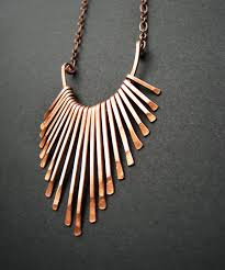 copper necklace images Copper necklace fringe freya design handmade copper jewelry in jpg