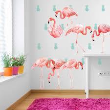 amazon com pink flamingo watercolor wall decal kit flamingo