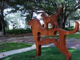 Annmarie Sculpture Garden Arts Center Big Dog With Cat