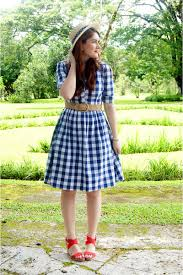 navy checkered dress shabby apple dresses neutral boat hat