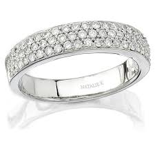 18k white gold wedding band natalie k 18k white gold halo pave diamond weddi