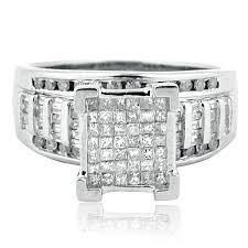 10mm diamond 1cttw diamond wedding ring 3 in 1 style sterling
