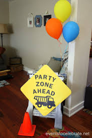 Construction Party Centerpieces by Construction Birthday Party Events To Celebrate