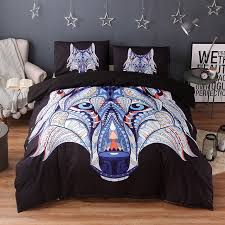 Wolf Bedding Set Wongsbedding Indian Symbol Wolf Bedding Set Hd Print Tribal Wolves