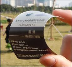 Plastic Business Card Printing Custom White Ink One Sided Printed Clear Frosted Transparent Pvc