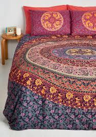 bohemian bliss duvet cover set in magenta full queen duvet