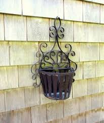 Wrought Iron Wall Planters by Vintage Antique Wrought Iron Wall Hanging Indoor Outdoor Plant