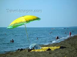 Georgia travel umbrella images Georgia ureki guria region beach parasol by the black sea jpg