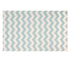 wool chevron rug 3x5 u0027 aqua white pottery barn kids