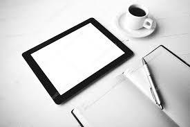 tablette de bureau tablette de bureau fournitures style de couleur noir et blanc