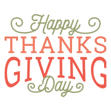 happy thanksgiving day logo transparent png svg vector