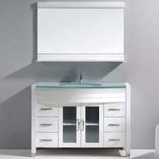 White Bathroom Vanity 48 Inch by Fresca Platinum Due 48