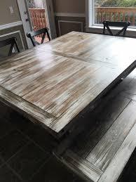 Whitewash Bench Farm Table Benches Wood Reclaimed Wood Custom Handmade White