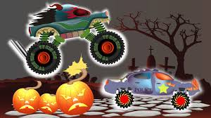 Cartoon Halloween Monsters Monster Trucks Cartoons For Children Scary Trucks For Kids Vs