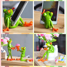 Novelty Desk Accessories Free Shipping Frog Figures Office Series Phone Pen Rack