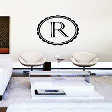 r letter wall art stickers sign sticker living room decoration