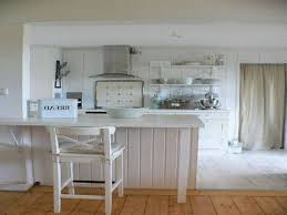 white kitchen decoration using white wood shabby chic kitchen